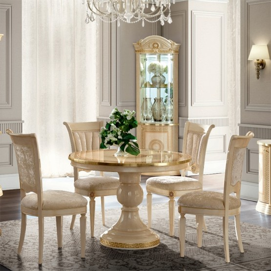 Aida Round Extendable Dining Table photo