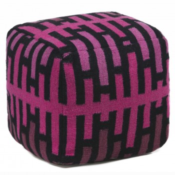 Pouf POU134, Pink + Black by Chandra