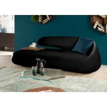 Duny Sofa, Black Eco-Leather