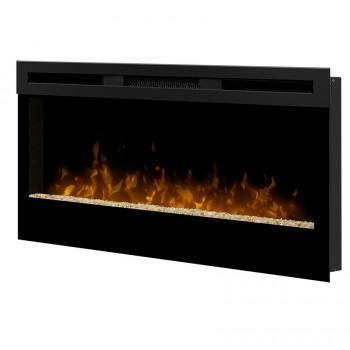 "Wickson 34"" Wall-Mounted Electric Fireplace, Black"