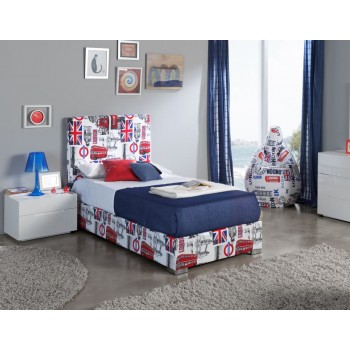 701C London Youth Euro Twin Size Storage Bed