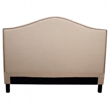 Chloe King Fabric Headboard, Khaki by NPD (New Pacific Direct)