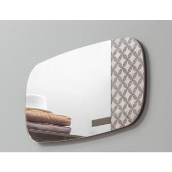 Marguerite Small Silver Mirror, Canaletto Walnut