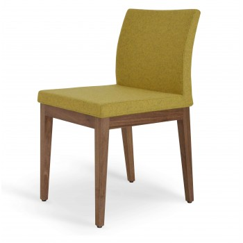 Aria Wood Dininng Chair, American Walnut Wood, Amber Camira Wool by SohoConcept Furniture