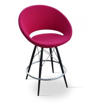 Crescent MW Bar, Black Powder Steel, Pink Wool by SohoConcept Furniture
