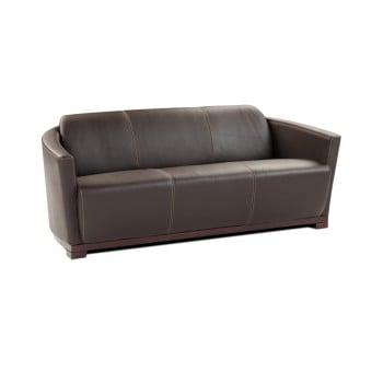 Hotel Sofa, Black Italian Leather by J&M Furniture