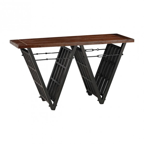 Industrial Era Console With Iron Stretcher photo