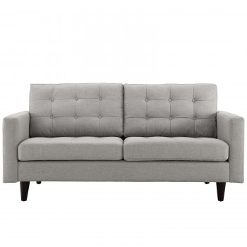 Empress Upholstered Loveseat, Light Gray by Modway