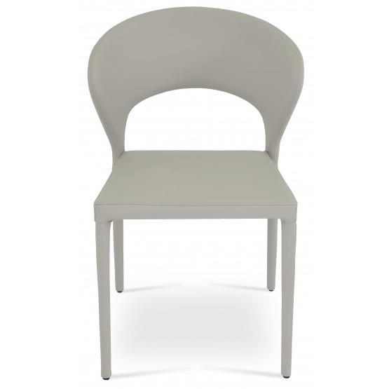 Prada Full Upholstered Stackable Chair, Bone PPM photo