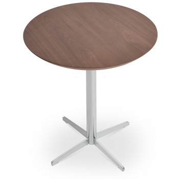 Diana End Table, Chrome, Walnut by SohoConcept Furniture