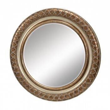 Cocktail Mirror In Copper With Silver Highlights