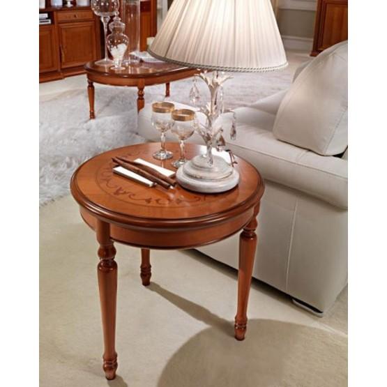 Siena Round Corner Table, Walnut photo