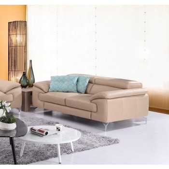 A973 Italian Leather Loveseat, Peanut by J&M Furniture