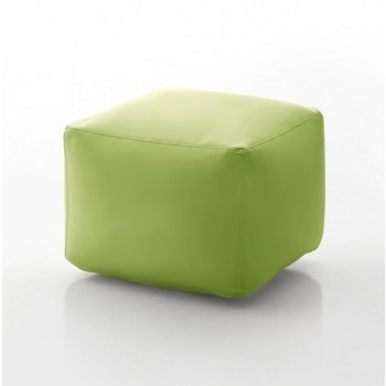 Truly Small Pouf, Olive Green Eco-Leather