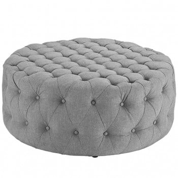 Amour Fabric Ottoman, Light Gray by Modway