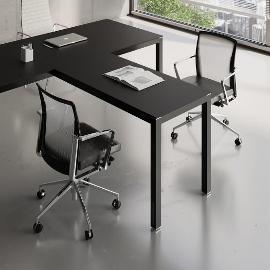 Impuls Desk Extension IM07, All Black photo