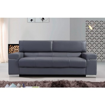 Soho Sofa, Grey Leather by J&M Furniture