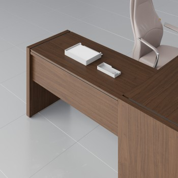 Status Right Side Desk Extension X15, Chestnut