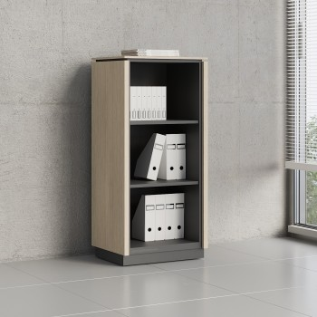 Status Open Storage Cabinet X39, Canadian Oak