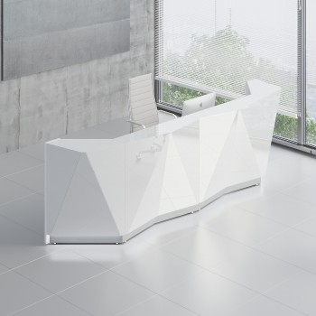 Alpa ALP15 Reception Desk, White