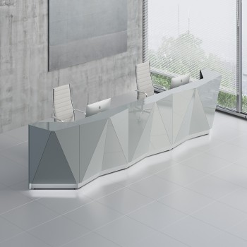 Alpa ALP16 Reception Desk, Aluminum