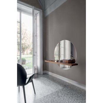 Sunset Silver Mirror, Canaletto Walnut