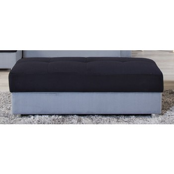 Life Style Sectional Ottoman, Sarp Gray & Black by Casamode