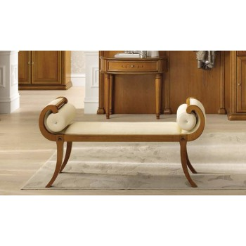Siena Bench, Ivory Eco Leather