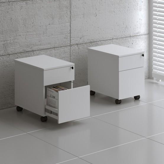 Standard SLD12 Mobile Pedestal w/Files Drawer, White photo