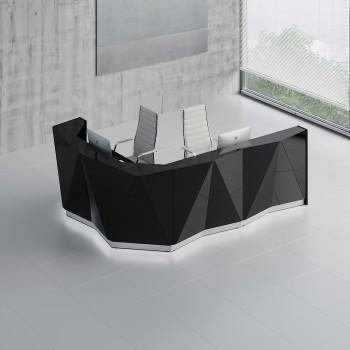 Alpa ALP17L Reception Desk, Black