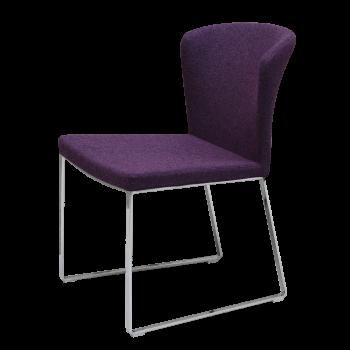 Capri Sled Dininng Chair, Deep Maroon Camira Wool by SohoConcept Furniture