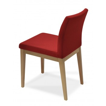 Aria Wood Dininng Chair, Natural Ash Wood, Red Wool by SohoConcept Furniture