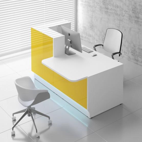 Linea LIN29L Reception Desk, Yellow photo