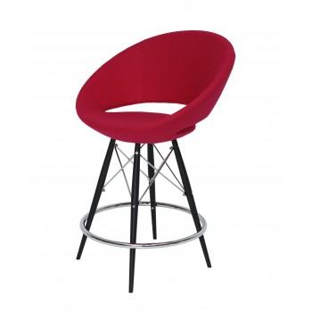 Crescent MW Bar, Black Powder Steel, Red Wool by SohoConcept Furniture