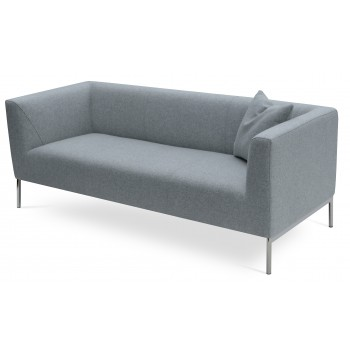 Laguna Sofa, Silver Camira Wool by SohoConcept Furniture