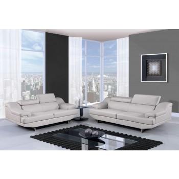 U8141 3-Piece Living Room Set, Grey