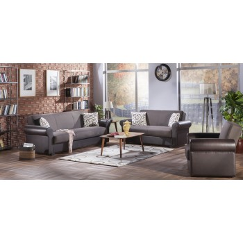 Enea 3-Piece Living Room Set, Diego Brown