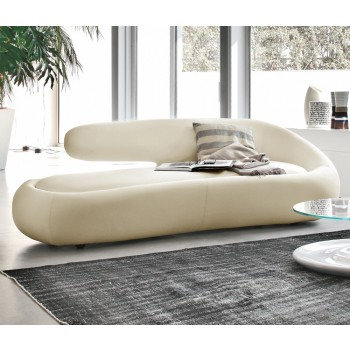 Duny Sofa, Cream Leather