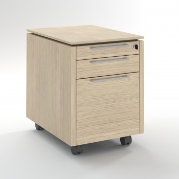 Status Mobile Pedestal w/Files Drawer XKD12, Canadian Oak