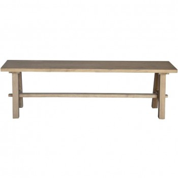"""Bedford 59"""" Bench """"A"""" Base, Brushed Smoke by NPD (New Pacific Direct)"""