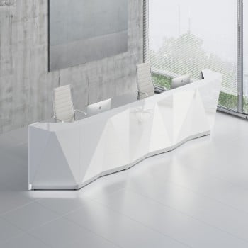 Alpa ALP16 Reception Desk, White
