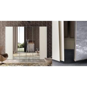Luna 6-Door Wardrobe w/Mirror, White Ash