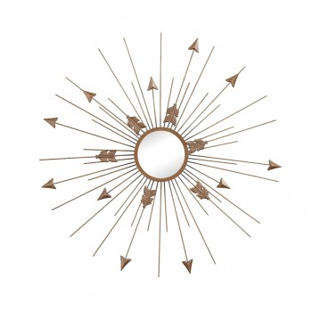 Thrax Wall Mirror In Antique Gold