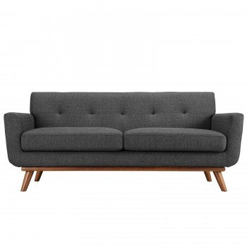Engage Upholstered Loveseat, Gray by Modway
