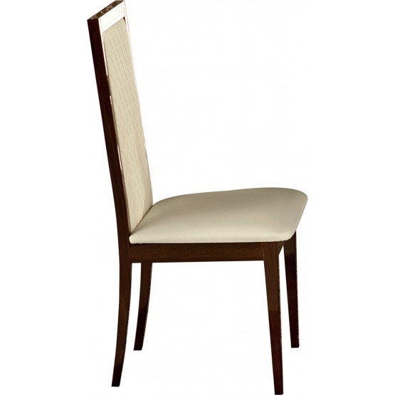 Roma Dining Side Chair, Walnut photo