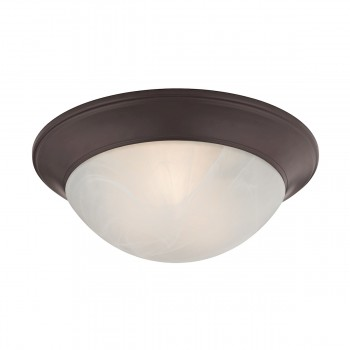 2 Light Flushmount Lamp in Oil Rubbed Bronze