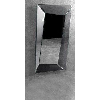 Callas Rectangular Mirror, Transparent Smoked Grey