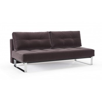 Supremax Deluxe Excess Full Sofa Bed, 866 Vintage Velvet Mauve + Chromed Legs