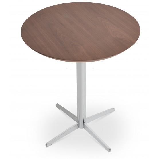 Diana End Table, Chrome, Walnut photo