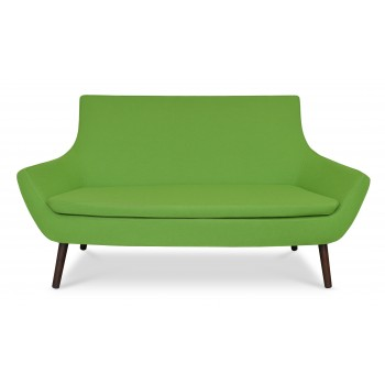 Rebecca Wood Two Seater, Walnut Finish, Pistachio Camira Wool by SohoConcept Furniture